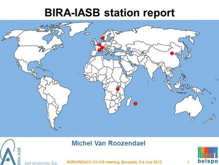 BIRA-IASB station report