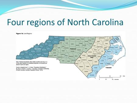 Four regions of North Carolina. Water, water, everywhere! Tidewater – narrow strip of land that extends along the Atlantic Ocean.