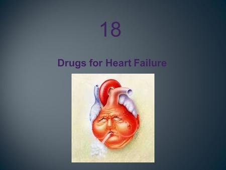 Drugs for Heart Failure 18. 1.Identify the major risk factors that accelerate the progression to heart failure. 2.Relate how the classic symptoms associated.