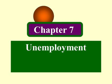 Unemployment Chapter 7. 2 Introduction Keynes first challenged the orthodox view that the economic system tends to return quickly to full-employment equilibrium.