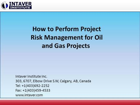 How to Perform Project Risk Management for Oil and Gas Projects