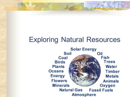 Exploring Natural Resources. Common Core/Next Generation Science Addressed! RST.6 ‐ 8.1- Cite specific textual evidence to support analysis of science.