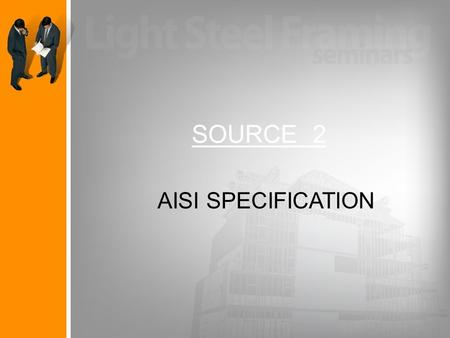 SOURCE 2 AISI SPECIFICATION.