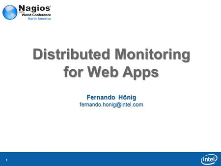11 Distributed Monitoring for Web Apps Fernando Hönig