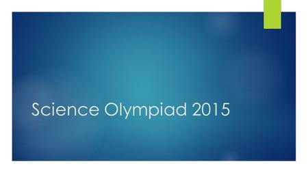 Science Olympiad 2015.