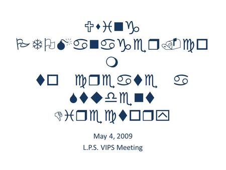Using PTOManager.co m to create a Student Directory May 4, 2009 L.P.S. VIPS Meeting.