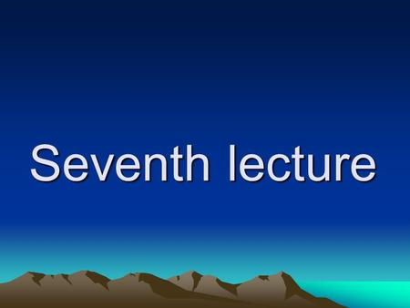 Seventh lecture Changes occurring in the nerve as a result of conduction of a nerve impulse: I- Electrical changes.