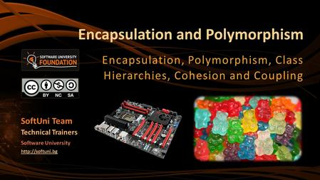 Encapsulation and Polymorphism Encapsulation, Polymorphism, Class Hierarchies, Cohesion and Coupling SoftUni Team Technical Trainers Software University.