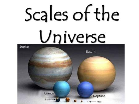 Scales of the Universe. The Earth is 12,700 km in diameter. The Sun is 1.39 million km in diameter.
