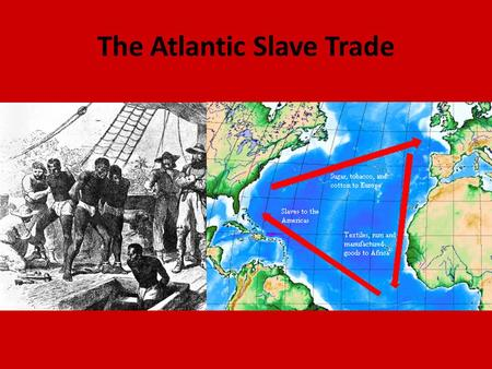 The Atlantic Slave Trade. Causes of African Slavery 1. Slavery was already a common institution around the world including Africa. 2. Increased demand/need.