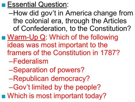 articles of confederation era essay Articles of confederation  these articles notably left out both and executive and judicial branch,  power point of progressive era civ war primary dox.