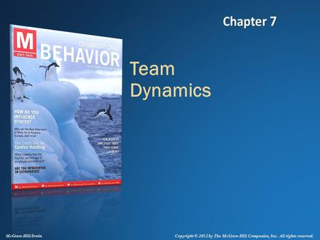 Copyright © 2012 by The McGraw-Hill Companies, Inc. All rights reserved. McGraw-Hill/Irwin Team Dynamics.