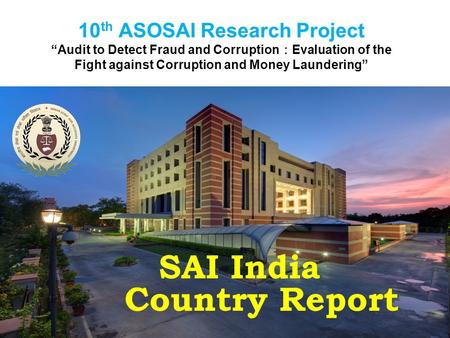 SAI India Country Report
