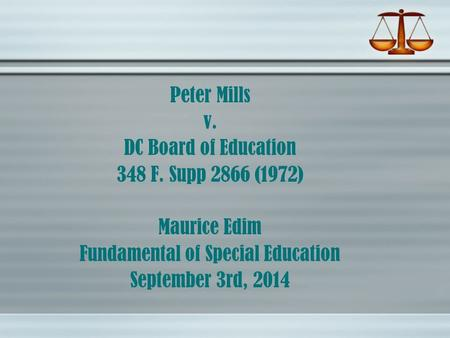 Fundamental of Special Education