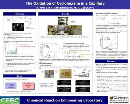 The Oxidation of Cyclohexane in a Capillary R. Jevtic, P.A. Ramachandran, M. P. Dudukovic Chemical Reaction Engineering Laboratory Motivation Nylon -6,6.