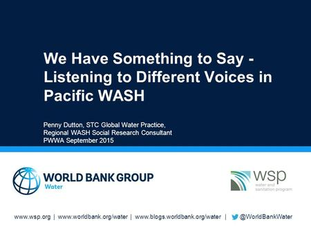 |  |  We Have Something to Say - Listening to Different Voices in Pacific.