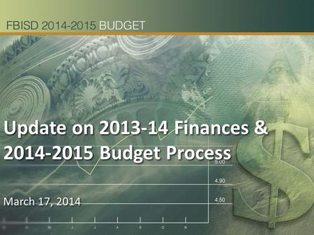 Update on 2013-14 Finances & 2014-2015 Budget Process March 17, 2014 Update on 2013-14 Finances & 2014-2015 Budget Process March 17, 2014.