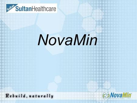 "NovaMin. A ""high-tech"" active ingredient used in the most innovative professional dental products. Material Description  NovaMin is a breakthrough remineralization."