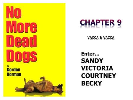 Enter… SANDY VICTORIA COURTNEY BECKY. Chapter Summary Enter… COURTNEY.