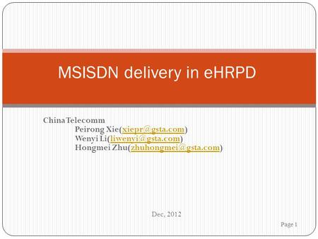 MSISDN delivery in eHRPD