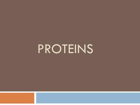 PROTEINS. proteins  Proteins are polymers composed of sub-units called amino acids that are linked by peptide (amide) bond.