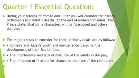 the punished and the pardoned romeo juliet essay