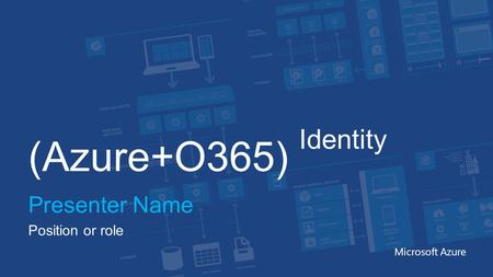 (Azure+O365) Identity Presenter Name Position or role Microsoft Azure.
