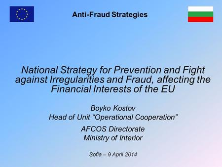 Anti-Fraud Strategies