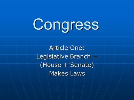 Your Us senate