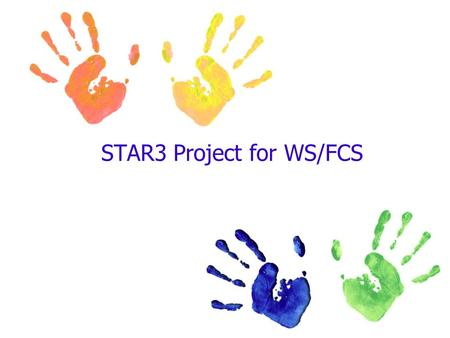 STAR3 Project for WS/FCS. STAR3 All students deserve and thrive under a great teacher that cares for their well being. Our responsibility is to provide.