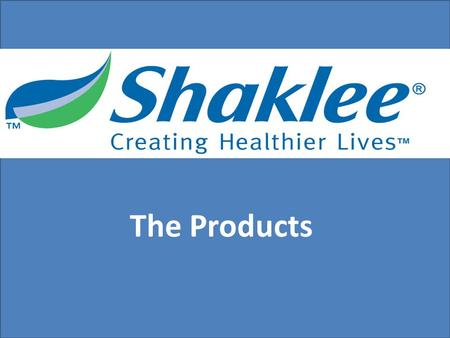 The Products. a Scientific Research Company with over 75 full-time scientists.