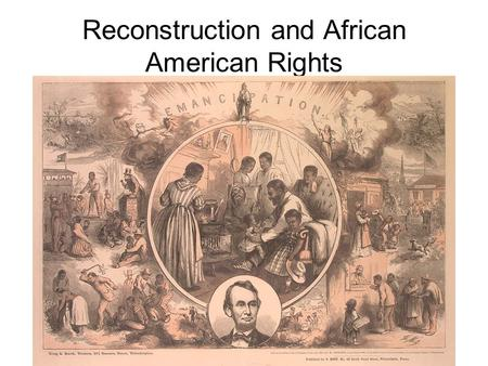 Reconstruction and African American Rights. African American Population Concentrations in 1890.