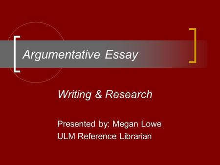 Need keywords to search for argumentative essay?