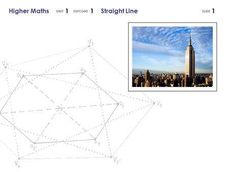 Higher Maths 1 1 Straight Line1. x 2 – x 1 Higher Maths 1 1 Straight Line Gradient of a Straight Line The symbol is called 'delta' and is used to describe.