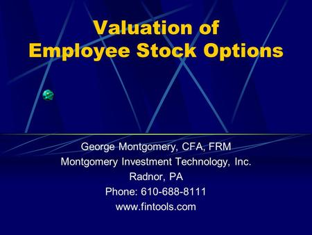 Extending the black scholes merton model to value employee stock options