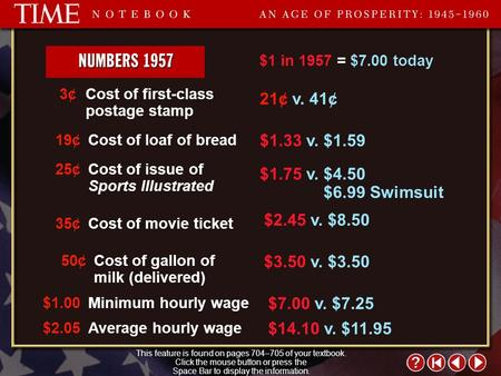Time Notebook 8 Cost of first-class postage stamp 3¢3¢ Cost of loaf of bread19¢ Cost of issue of Sports Illustrated 25¢ Cost of movie ticket35¢ Cost of.