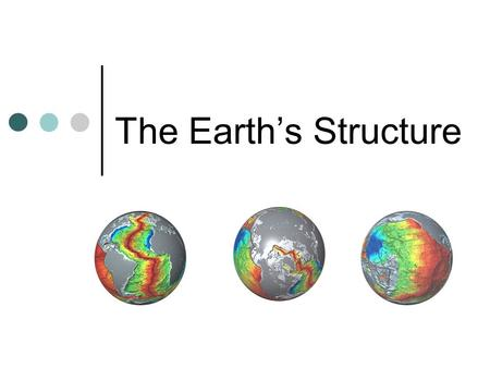 The Earth's Structure. Facts about the Earth Solid Sphere Radius- 6 378 km But…we have only drilled 12 km deep.