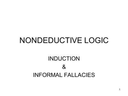 Informal fallacies essay