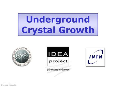 Underground Crystal Growth Marisa Pedretti. Participants INFN (ITALY) LNGS Como Milano-Bicocca Contractor Lawrence Berkeley National Laboratory University.