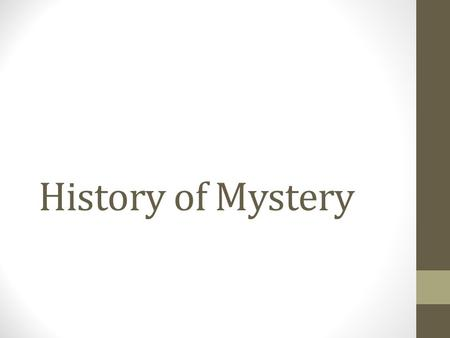 History of Mystery. First true English detective author Wilkie Collins.
