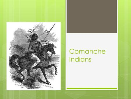 Comanche Indians. Vocabulary  Adobe – mud mixed with straw and dried in the Sun  Agriculture – the raising of plants and animals for food  Nomad –