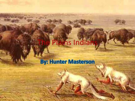 The Plains Indians By: Hunter Masterson.