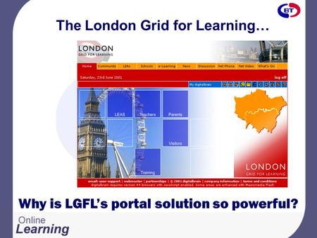The London Grid for Learning… Why is LGFL's portal solution so powerful?
