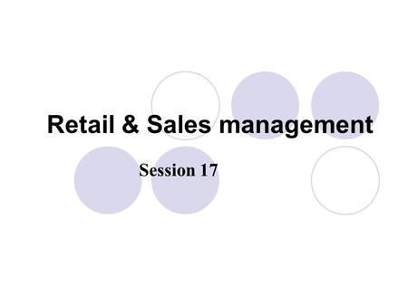 Retail & Sales management Session 17. Setting inventory and product availability levels Model stock plan Product availability --- Percentage of demand.