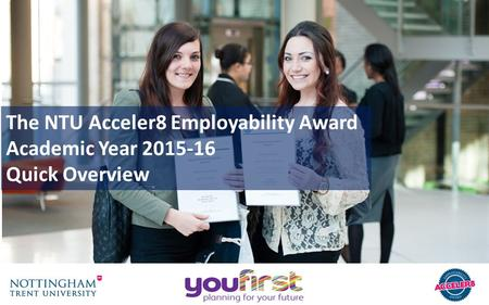 The NTU Acceler8 Employability Award Academic Year 2015-16 Quick Overview.