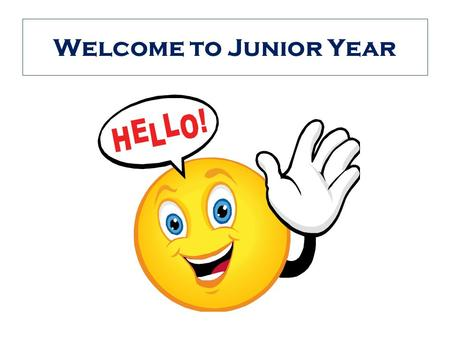 Welcome to Junior Year. Counselors Ms. Brennan works with students A – K –  – 281 – 351 – 2547 ext. 209 Mrs.