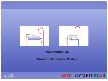 Presentation on Feed and Expansion Cistern. Central Heating At the end of this part you should be able to: Identify general system methods of feed and.