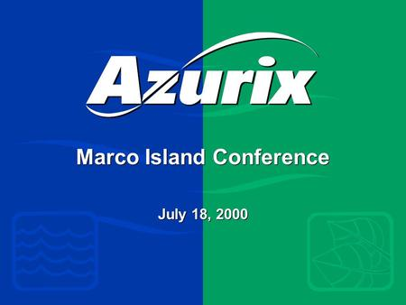 Marco Island Conference July 18, 2000. PointCounterpoint Water is a public resource — not a commodity Water is free; no one should profit from it Water.