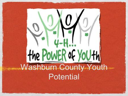 Washburn County Youth Potential. Youth Issues Bullying/Meanness Kids fending for self Personal Hygiene Parental Supervision Childhood Obesity Teen Pregnancy.