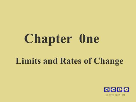 Chapter 0ne Limits and Rates of Change up down return end.